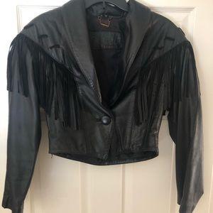 Jackets & Blazers - Leather fringe jacket